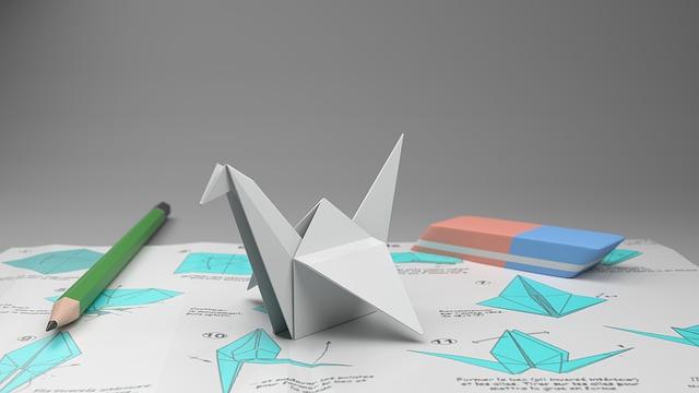 labuť origami